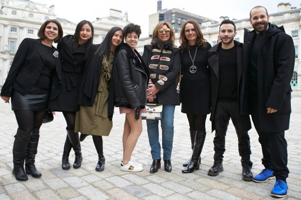 IFS 2017 presented by Mercedes-Benz_Egypt_All Team Egypt_Designer Reem Jano_Aya Abdelraouf_Mounaz Abdelraouf_Norine_Farah_Her Excellency Mrs.Dalia Elbatal_Curator Susan Sabet_Ahmed Sabry