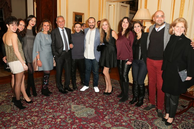 IFS 2017_Egypt_100% Egyptian Cotton_Supported by CIB Egypt_Ambassador's Residence Cocktail party_All Designers with His Excellency_Photographer Olu Ogunshakin