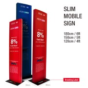 slim mobile sign tower