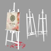 White Solid Wood Easel Stand