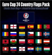 Euro Cup Football 2016 flag pack