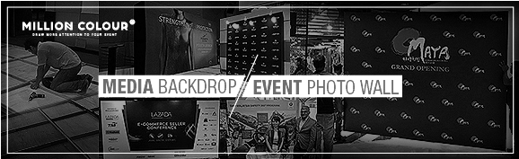 Stage Backdrop / Event Media Wall | MillionColour Display
