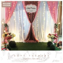 Gentle Soft Wedding Backdrop Rent Malaysia