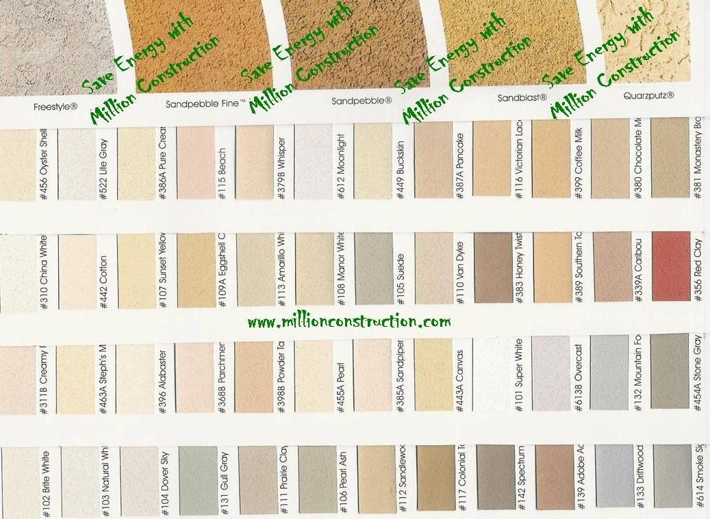 Dryvit Eifs Color Chart