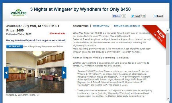 Daily Getaways Wyndham Points for Sale