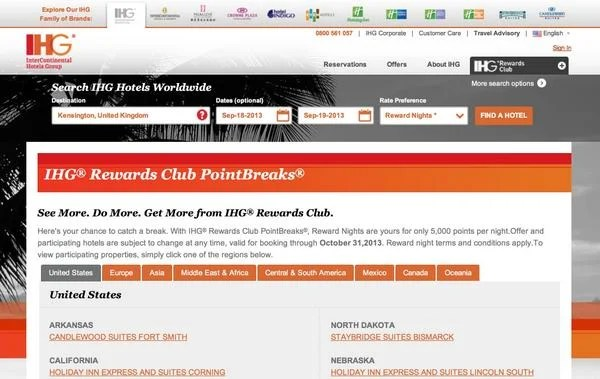 5,000 IHG Rewards Points ($35) for Select Hotels Through January 31, 2014 – Includes Tahiti!