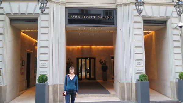 Emily Outside the Park Hyatt in Milan