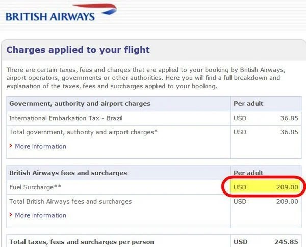British Airways Charges Fuel Surcharges for Flights From Brazil…And How to Avoid Them!