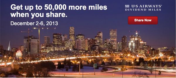 Up to 50,000 US Air (Eventually American Airlines Miles) for ~$568