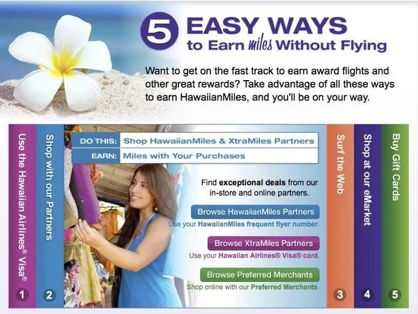 Earn up to 10 Extra Miles Per $1 Spent With Hawaiian Air Partners