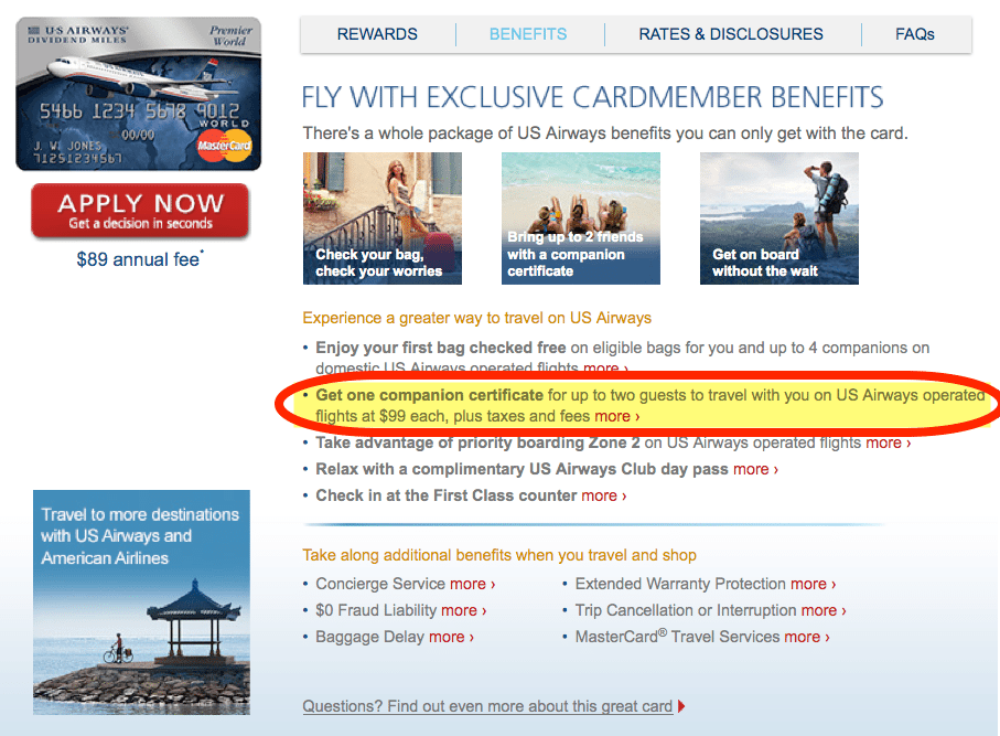 Use Your Barclaycard US Airways Companion Certificate Before It Disappears