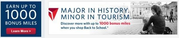 Get Up To 2000 United Airlines Miles And 1000 Delta Miles Shopping Online