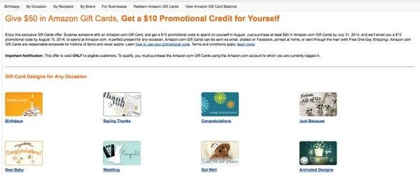 See If Youre Targeted For Free 10 Gift Card When You Buy 50 Amazon Gift Card