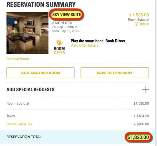 Act Fast To Save Big On Las Vegas Suites Including Dinners Shows Limos More