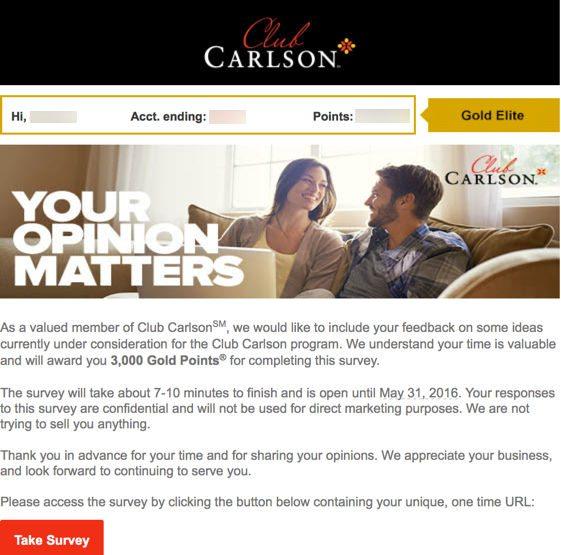 Club Carlson 85,000 Bonus Points Credit Card