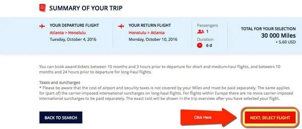 Sweet Spot Flying Blue Miles To Hawaii Using Chase Citi AMEX Or Starwood Points