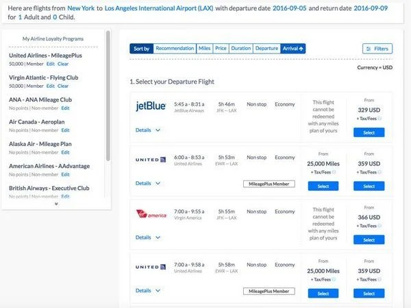 Pointimize A New Tool To Find Available Award Night Flight Cost Information