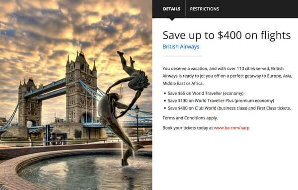 British Airways AARP Discount