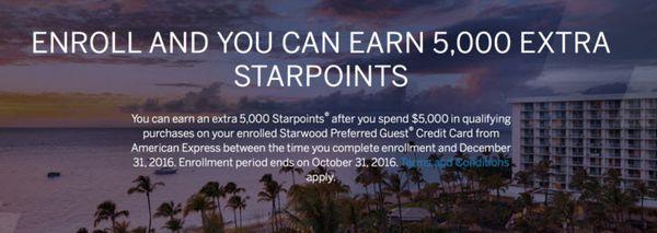 AMEX Starwood Point Bonus