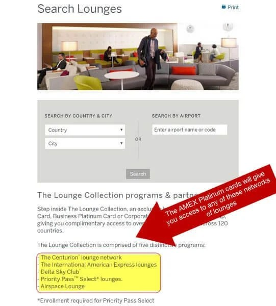 How To Find AMEX Platinum Airport Lounges