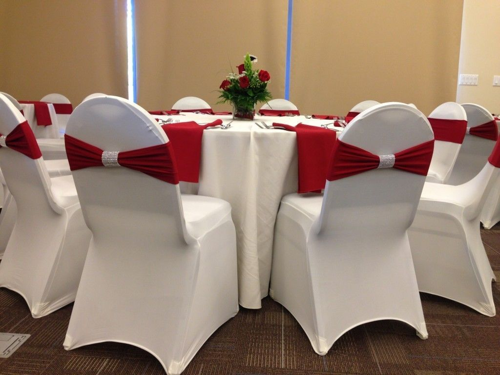 Polyester Spandex Chair Cover ArchedFlat Front Covers