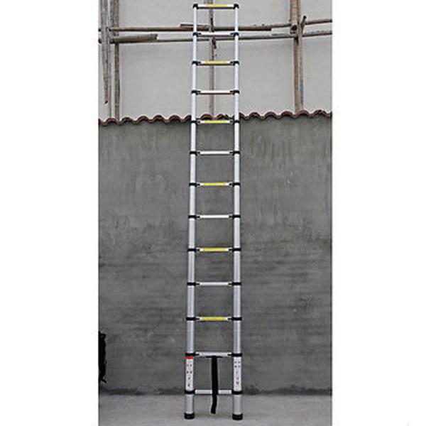 12.5ft Multi-purpose Aluminum Telescoping Telescopic Extension Ladder Tall
