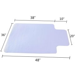 Clear Mat For Under Desk Chair Best Office Lower Back Pain 36 Quot X 48 Home Computer Floor