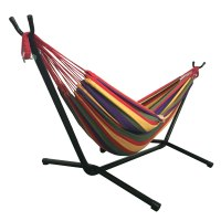 Outdoor Swing Chair Double Hammock with Steel Stand ...