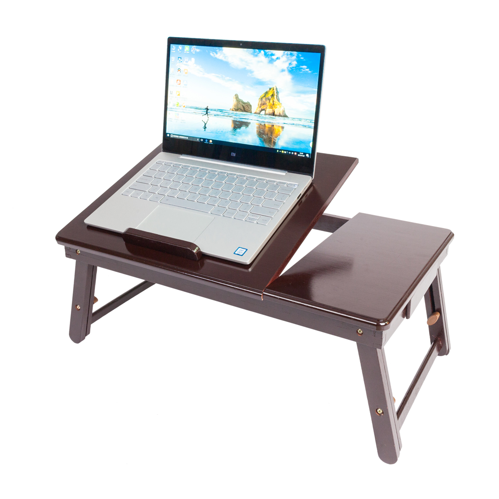 New Portable Double Flower Pattern Folding Laptop Table