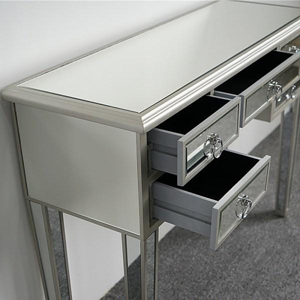 5 Drawer Mirrored Vanity Make- Desk Console Dressing
