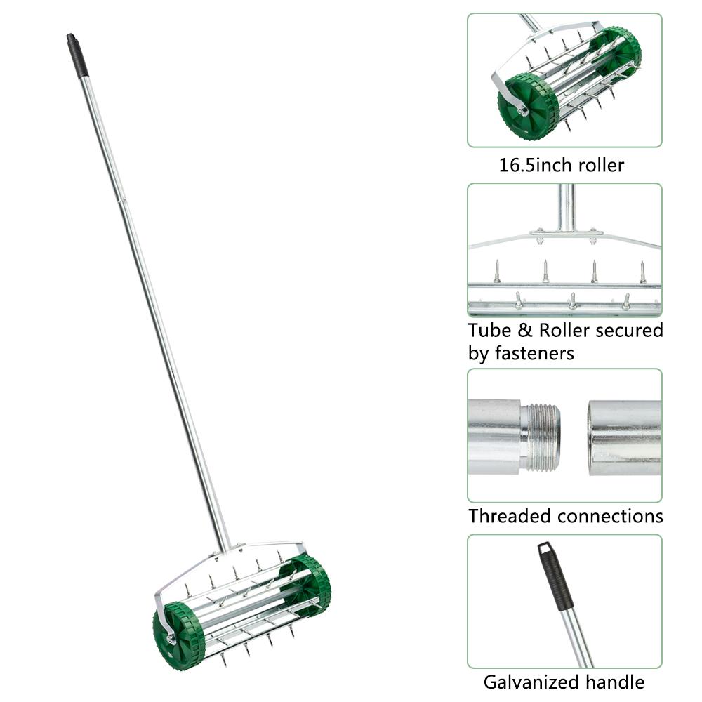 Rolling Lawn Aerator Heavy Duty Garden Yard Tool Push