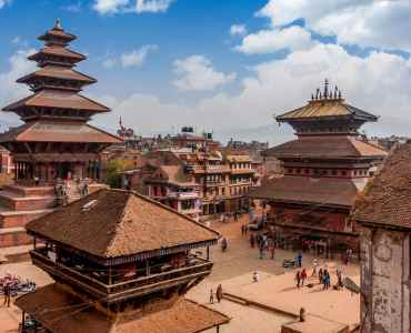 Bhaktapur is UNESCO World Heritage site located in the Kathmandu Valley, Nepal.
