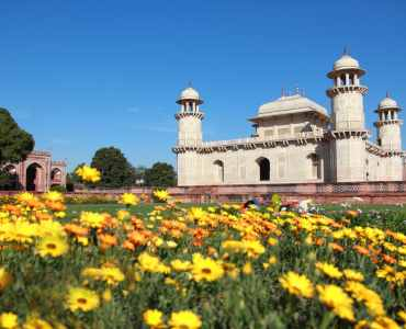 Itmad-Ud-Daulah's tomb in Agra, Uttar Pradesh, India. Also known as the Jewel Box or the Baby Taj