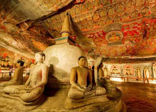 Dambulla Caves, Cultural Triangle, Sri Lanka