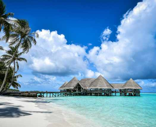 Maldives over-water stilts