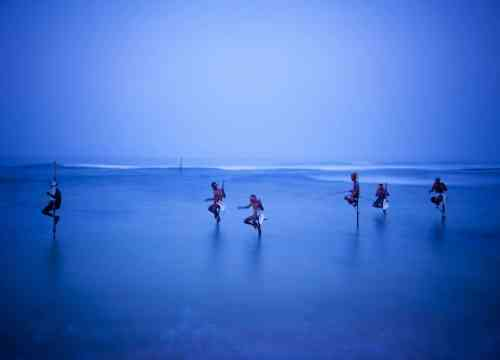 Fishermen on Stilts, South Coast, Sri Lanka