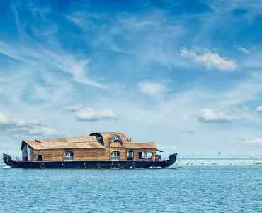 Houseboat on Lake Vembenad, India