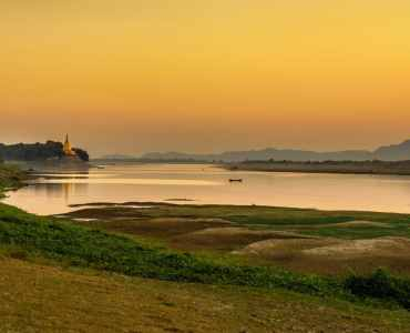 Irrawaddy at Sunset, Burma