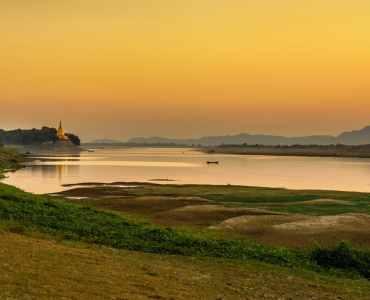 Irrawaddy at Sunset, Burma