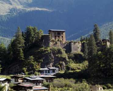 Bhutan, Drukyel Dzong in Paro Valley