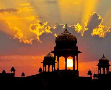Mughal Domes, Rajasthan, India