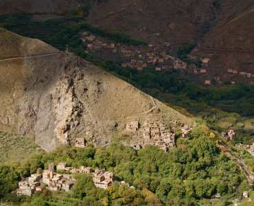 Imlil in the Atlas Mountains in Morocco
