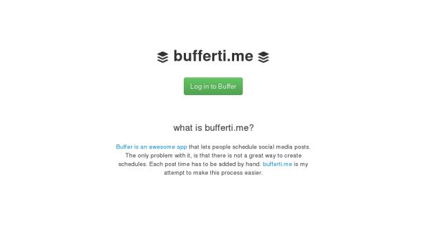 buffertime