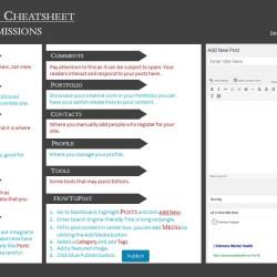 WordPress website cheat sheet