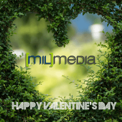 Happy valentine's day from milmedia group