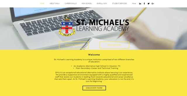 st michael's learning academy custom design