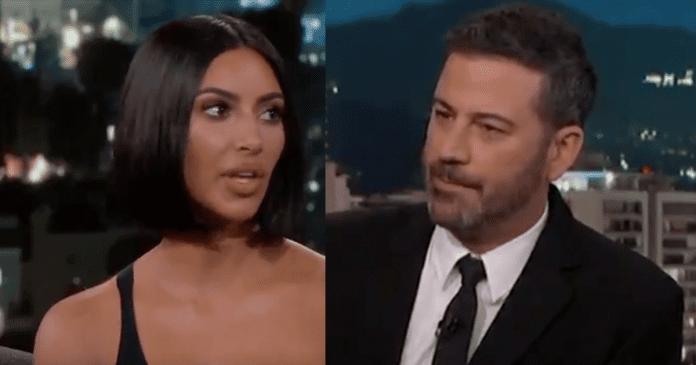 Kim Kardashian on Jimmy Kimmel