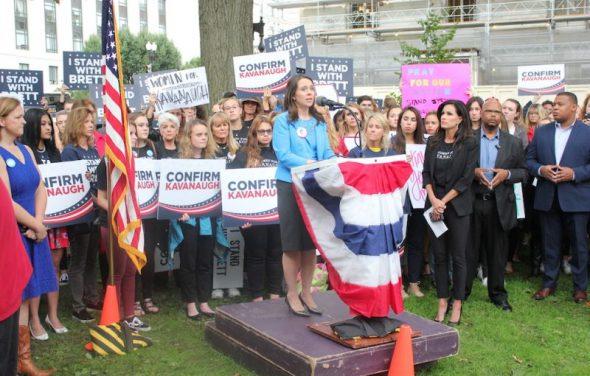 Women Rally In Support Of Judge Brett Kavanaugh, Warn Against 'Weaponizing' #MeToo