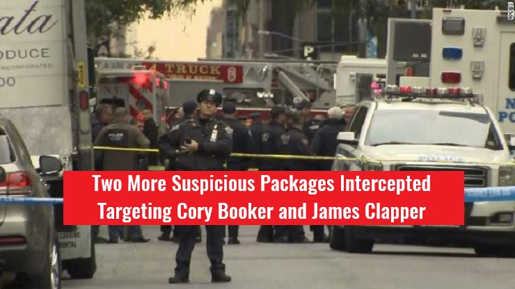 Two More Suspicious Packages Intercepted Targeting Cory Booker, James Clapper