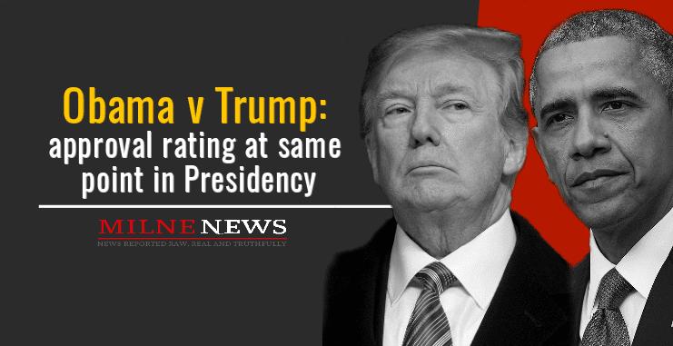 Obama v Trump: approval rating at same point in Presidency